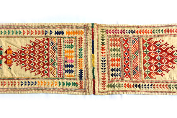 Hand embroidered Sash, Bokani, Gujarat 2303 - ahmedabadtrunk.in