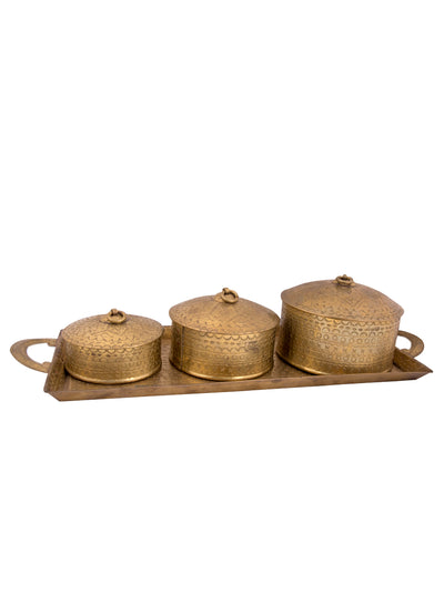 Brass Tray Set - ahmedabadtrunk.in