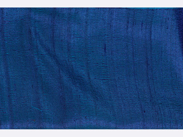 Banarasi Handwoven Raw Silk Stole Medium Blue - ahmedabadtrunk.in