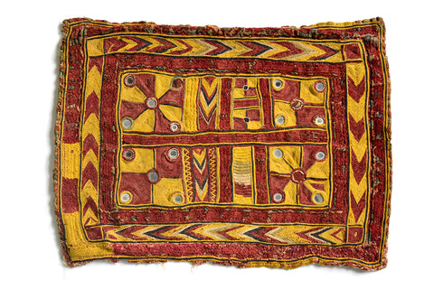 Hand Embroidered Panel, Rumal, Kutch (Gujarat) Banjara-2258 - ahmedabadtrunk.in
