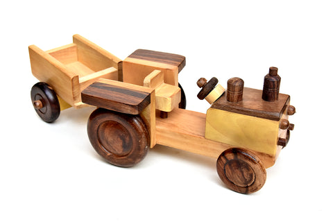 Wooden Toy Tractor For Kids - ahmedabadtrunk.in