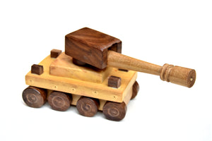Wooden Toy War Tank For Kids - ahmedabadtrunk.in