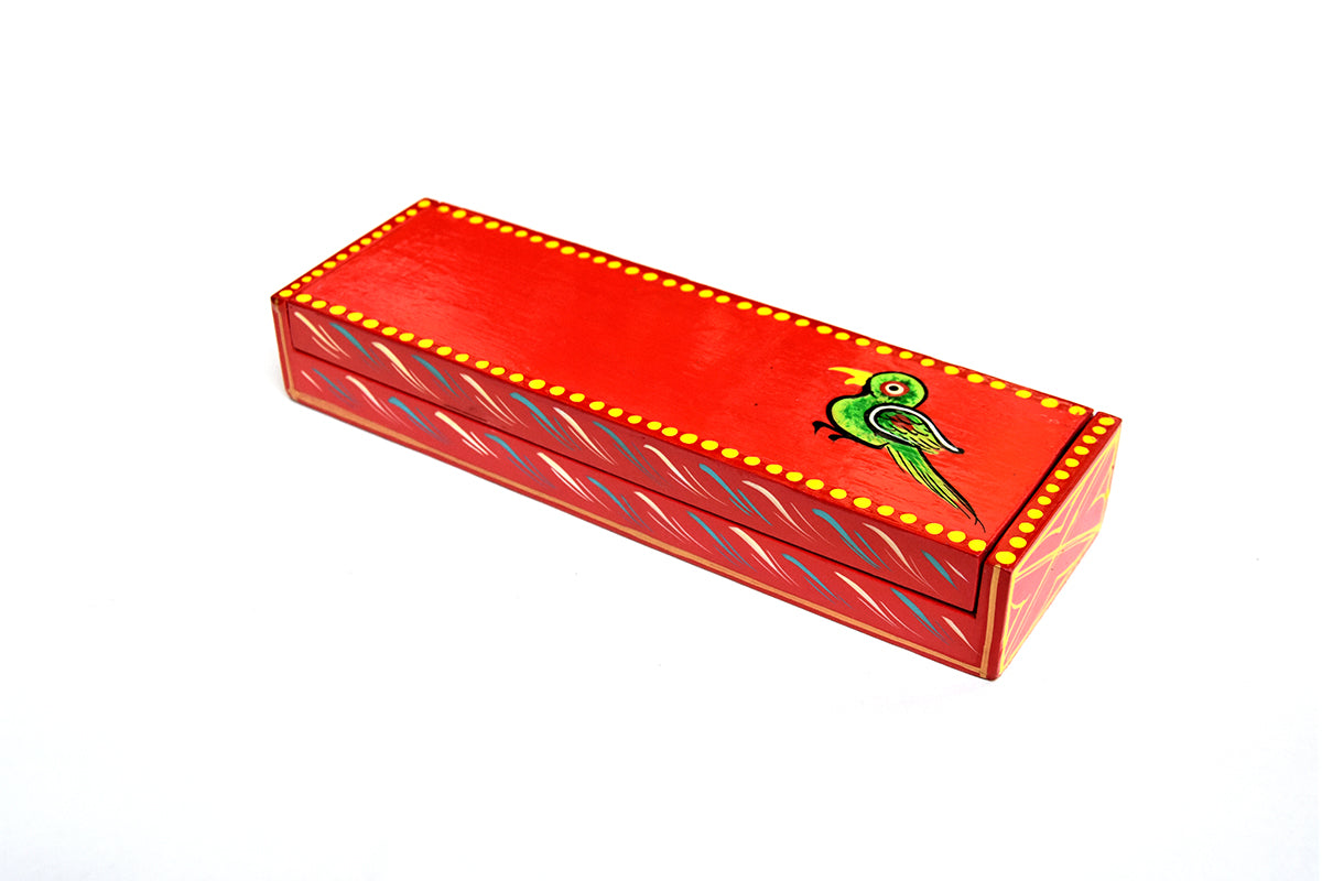 Wooden pencil box - ahmedabadtrunk.in