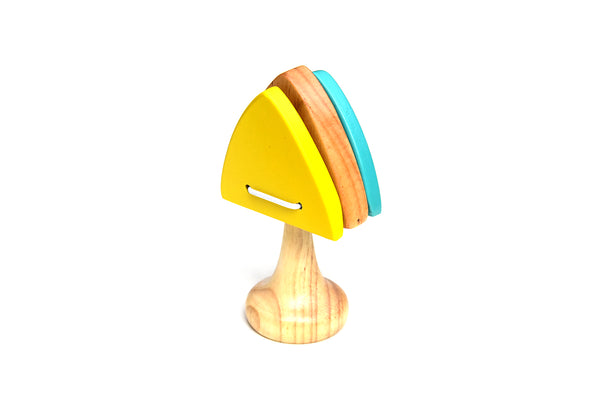 Wooden Toy Triangle Rattle For Kids - ahmedabadtrunk.in