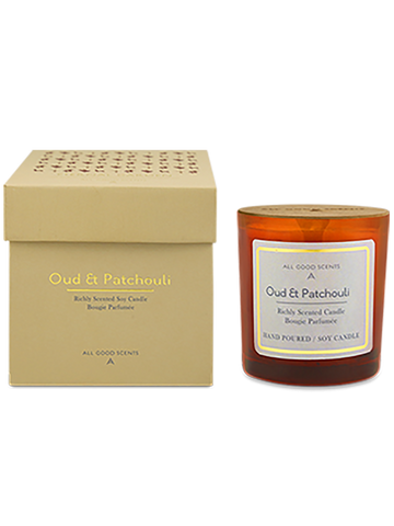 OUD AND PATCHOULI SCENTED SOY CANDLE - ahmedabadtrunk.in