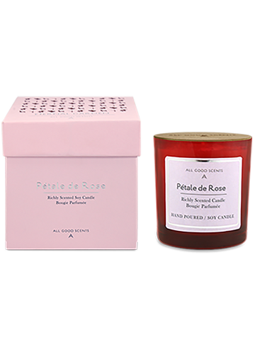 PETALE DE ROSE  SCENTED SOY CANDLE - ahmedabadtrunk.in
