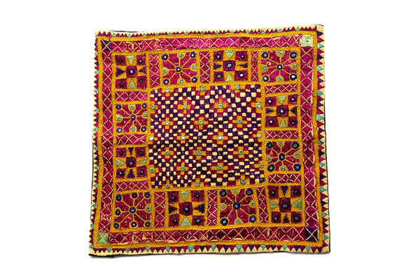 Hand embroidered, wall hanging, Chakla, Kutch (Gujarat) Kathipa-1729 - ahmedabadtrunk.in