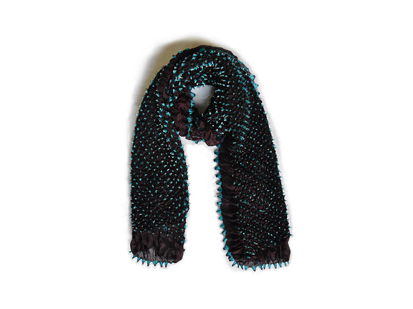 Bandhani Stole Tie-Dye Stole Medium Black And Blue For Women - ahmedabadtrunk.in