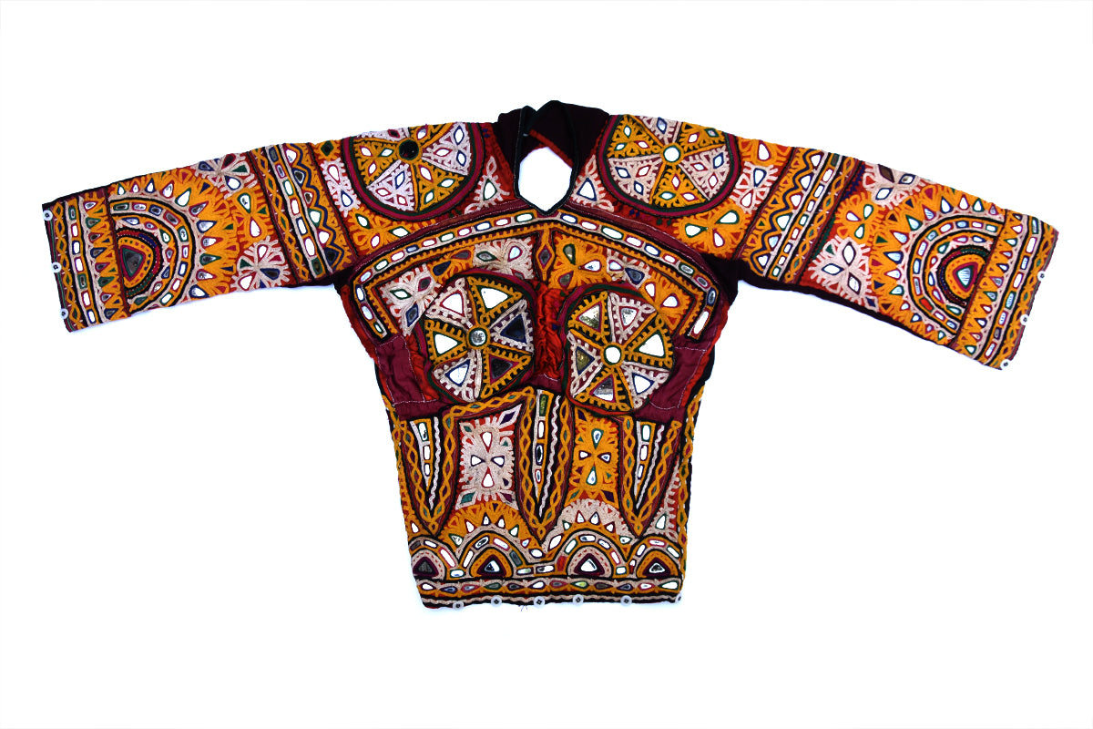Hand Embroidered, Blouse, Kapdu, Kutch (Gujarat) Rabari-948 - ahmedabadtrunk.in