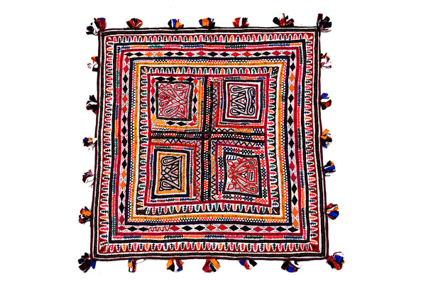 Hand Embroidered Wall Hanging, Chakla, Kutch (Gujarat) Rabari-921 - ahmedabadtrunk.in