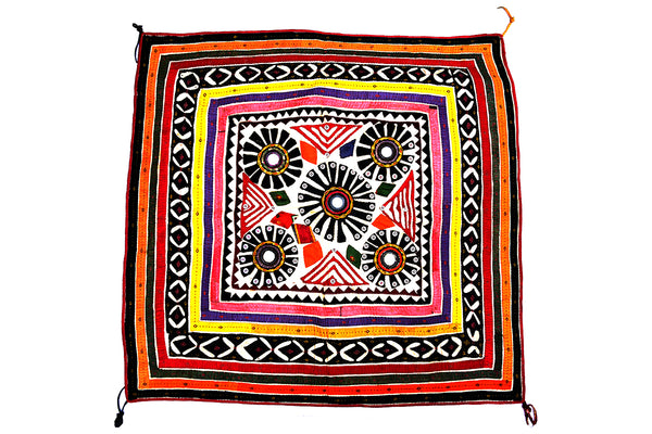 Handmade Wall Hanging, Chakla, Gujarat Applique-1942 - ahmedabadtrunk.in