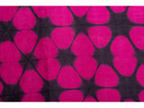 Clamp-Dye Silk Stole Pink And Black for women
