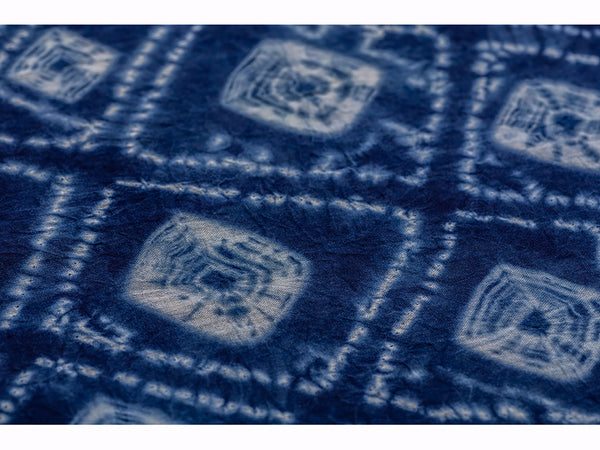 Cotton Shibori Stole Medium Indigo For Women - ahmedabadtrunk.in