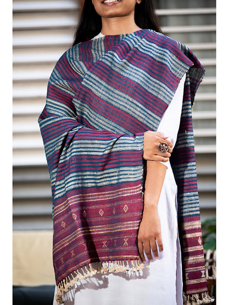 Women Silk Handwoven Dupatta Multicolour - ahmedabadtrunk.in