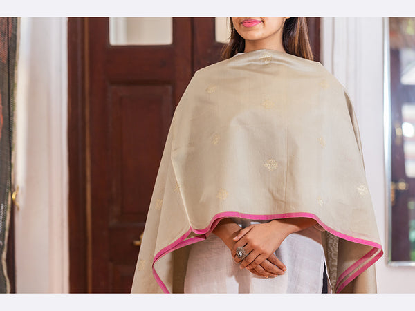 Maheshwari Silk Duppata Medium For Women - ahmedabadtrunk.in