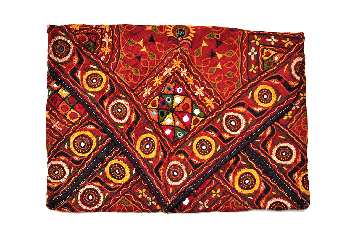 Hand embroidered, Pouch, Kutch (Gujarat) Rabari-1758 - ahmedabadtrunk.in
