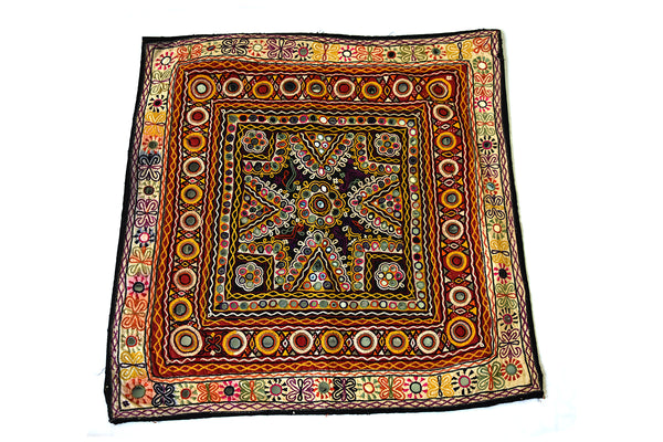 Hand embroidered wall hanging, Chakla, Kutch (Gujarat) Rabari - 1764 - ahmedabadtrunk.in