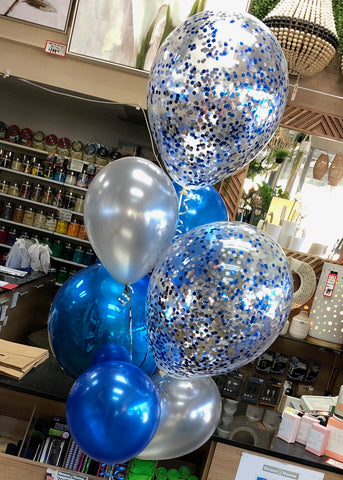 "Foil Orb, 2 x 16"" Confetti and 4 Latex Bouquet - SELECT COLOUR THEME"
