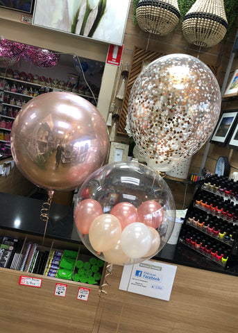 "16"" Confetti, Foil Orb and Gumball - Freestanding SELECT COLOUR THEME"