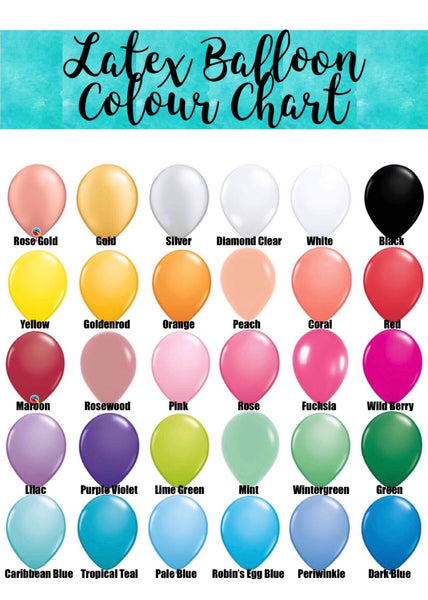 Jumbo Foil Number, Foil, Double Bubble and 3 Latex Bouquet - SELECT COLOUR THEME