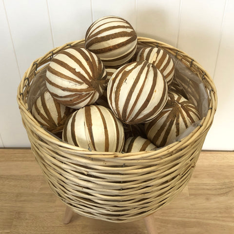 Natural Zebra Deco Ball 10cm