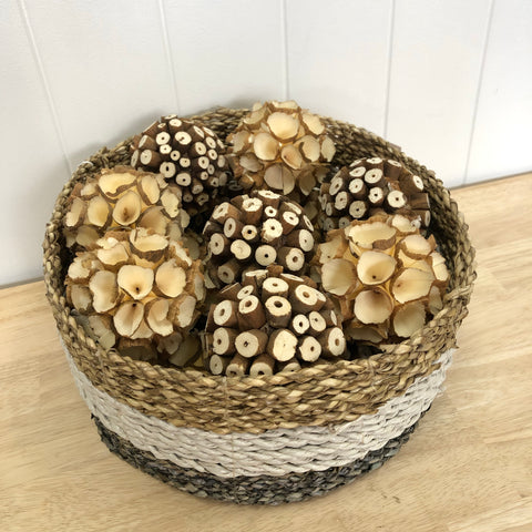 Crepe and Log Slice Deco Balls 8cm
