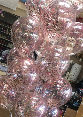 Confetti Balloon - Light Pink and Rose Gold