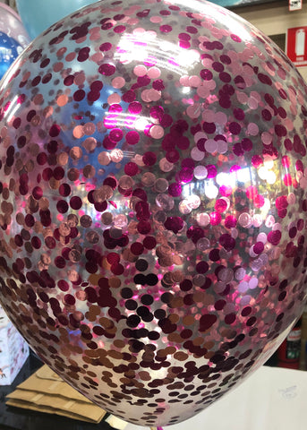 Confetti Balloon - Hot Pink and Light Pink