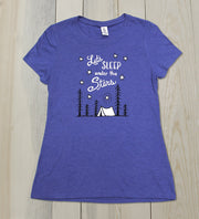"Ladies ""Let's Sleep Under The Stars"" Tri-Blend Tee"