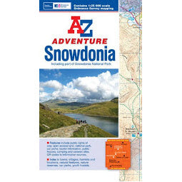 Front Cover of A - Z Adventure Snowdonia Map