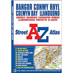 Load image into Gallery viewer, Front Cover of A - Z Street Map for Bangor,Conwy,Rhyl, Colwyn Bay and Llandudno