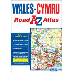 Front Cover of A - Z Wales Road Atlas