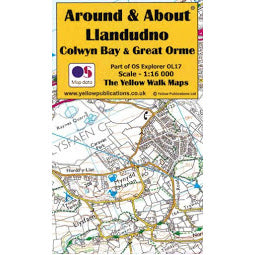 Front Cover of Around and About Llandudno Map