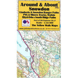 Front cover of OS Around and About Snowdon Map