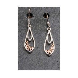 Celtic Earrings - Sterling Silver with Rose Gold Plating
