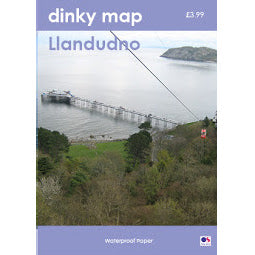 Front Cover of Dinky Llandudno Map