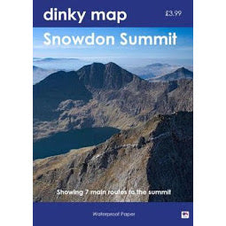Front Cover of Dinky Map for Snowdon Summit