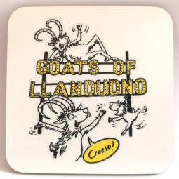 Goats of Llandudno Coaster - Sign