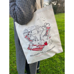 Load image into Gallery viewer, Goats of Llandudno Tote Bag
