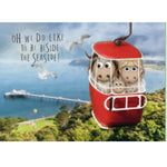 Great Orme Goat Greeting Card - Cable Car