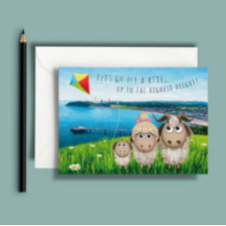 Great Orme Goat Greeting Card - Kite