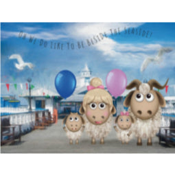 Great Orme Goat Greeting Card - Pier