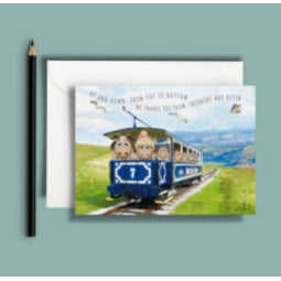 Load image into Gallery viewer, Great Orme Goat Greeting Card - Tram