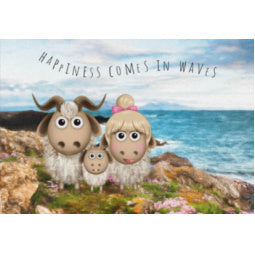 Great Orme Goat Greeting Card - Waves