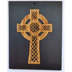 Slate Celtic Cross Plaque