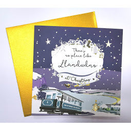 Load image into Gallery viewer, Image of front of Llandudno Christmas Card