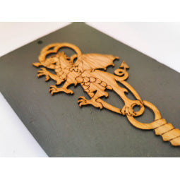 Load image into Gallery viewer, Slate Dragon Lovespoon Plaque