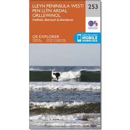 Front Cover of OS 253 Lleyn Peninsula West Map