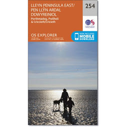 Front Cover of OS 254 Lleyn Peninsula East Map