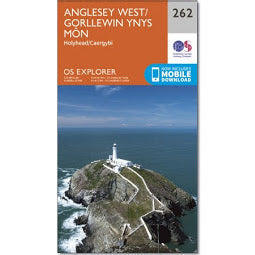 Front Cover of OS 262 - Anglesey West Map